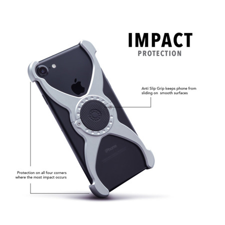 Apple iPhone 7/8 Predator Case Raw Aluminum